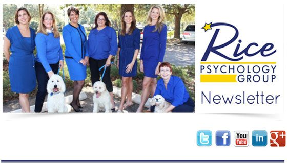 Newsletter | Rice Psychology Group in Tampa, FL