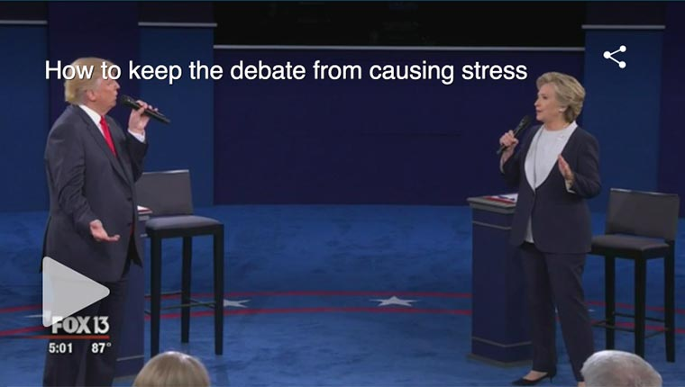 Fox 13 News Invites Wendy Rice To Speak on How to Keep the Debate and Election from Causing Stress